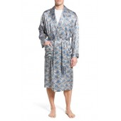 'Cypress' Silk Dot Robe
