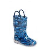 Shark Chase Light-Up Rain Boot
