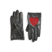 Heart Leather Gloves
