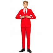 Oppo Red Devil Two-Piece Suit with Tie