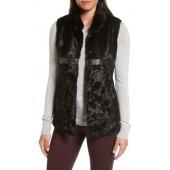 Reversible Faux Fur & Faux Leather Vest