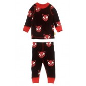 Fox Organic Cotton Fitted Two-Piece Pajamas