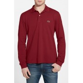 Classic Fit Long Sleeve Pique Polo