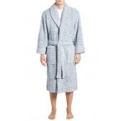Triple Stripe Fleece Robe