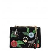 Milo Monkey Floral Shoulder Bag
