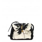 Genuine Snakeskin & Leather Shoulder Bag