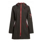 'Rain 7B' Hooded Water Resistant Coat