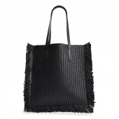 Maldives Woven Frayed Leather Tote