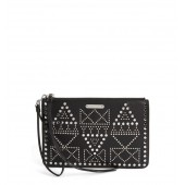 Studded Leather Wristlet