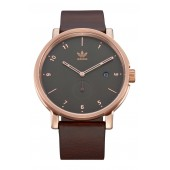 District Leather Strap Watch, 40mm