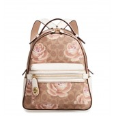 Campus Signature Rose Coated Canvas Backpack