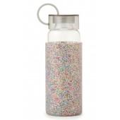 glitter 16-ounce glass water bottle