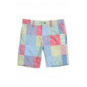Patchwork Print Breaker Shorts