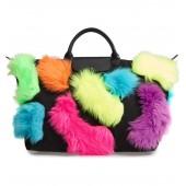 x Jeremy Scott Faux Fur Travel Bag