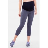 Active Maternity Capri Pants with Crossover Panel