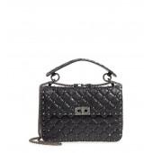 Vitello Rockstud Lambskin Leather Shoulder Bag