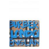 Graffiti Print Leather Wallet