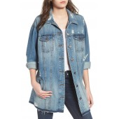 Long Denim Boyfriend Jacket
