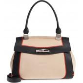 Madeleine Colorblock Leather Satchel