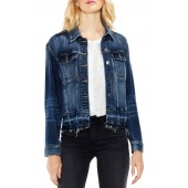 Indigo Released Hem Denim Jacket