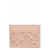 Sandon Perforated Logo Leather Card Case