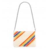 Zizi Beaded Rainbow Shoulder Bag