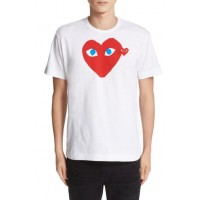 Comme des Garcons PLAY Heart Face Graphic T-Shirt