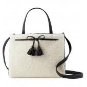 hayes street - sam genuine shearling & leather satchel