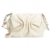 Bloomy Grained Leather Shoulder Bag