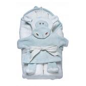 Hooded Towel & Bath Mitt Set