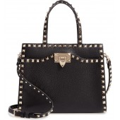 Small Rockstud Leather Satchel