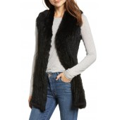 Genuine Rabbit Fur & Knit Vest