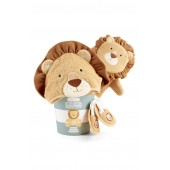 Lion Hooded Robe, Bath Mitt & Slippers Set