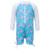 Flamingo One-Piece Zip Swimsuit