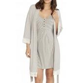 Nursing/Maternity Dress, Robe & Baby Wrap Set