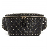 Rockstud Matelasse Leather Belt Bag