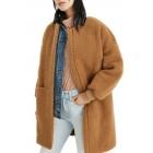 Bonded Fleece Cocoon Coat