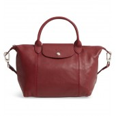 Small 'Le Pliage Cuir' Leather Top Handle Tote