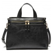 Zypa Faux Leather Satchel