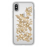 Shimmer Metallic Floral Transparent iPhone X & Xs Case