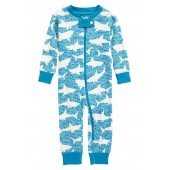 Shark Alley Organic Cotton Fitted One-Piece Pajamas