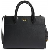 Large Accordia Saffiano & City Calfskin Leather Tote