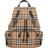 Medium Rucksack Vintage Check Nylon Backpack