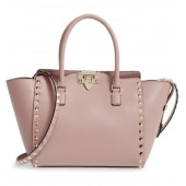 Rockstud Small Double Handle Leather Tote