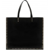 Rockstud Runway Leather Tote
