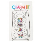 4-Pack Rainbow Glitter Shoelace Charms
