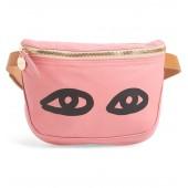 Eyes Lambskin Leather Belt Bag