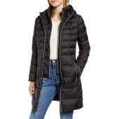Packable Hooded Down Parka with Vest Inset
