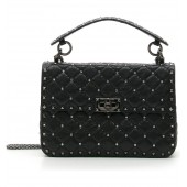 Medium Rockstud Matelasse Quilted Leather Shoulder Bag