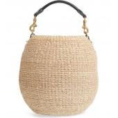 Pot de Miel Top Handle Straw Basket Bag